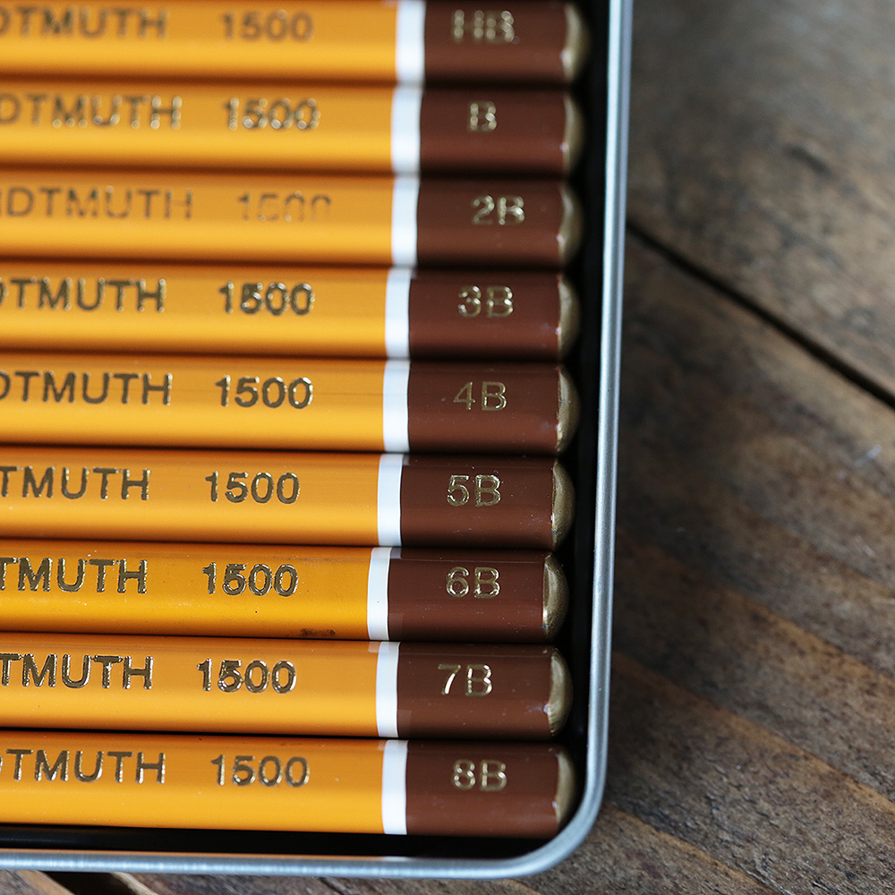 12 Pencil Tin Set (8B - 2H)